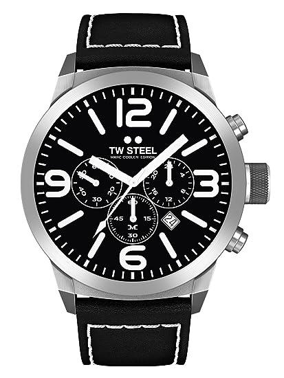 TW Steel Marc Coblen Edition Chrono - Reloj de pulsera con correa de piel de 42
