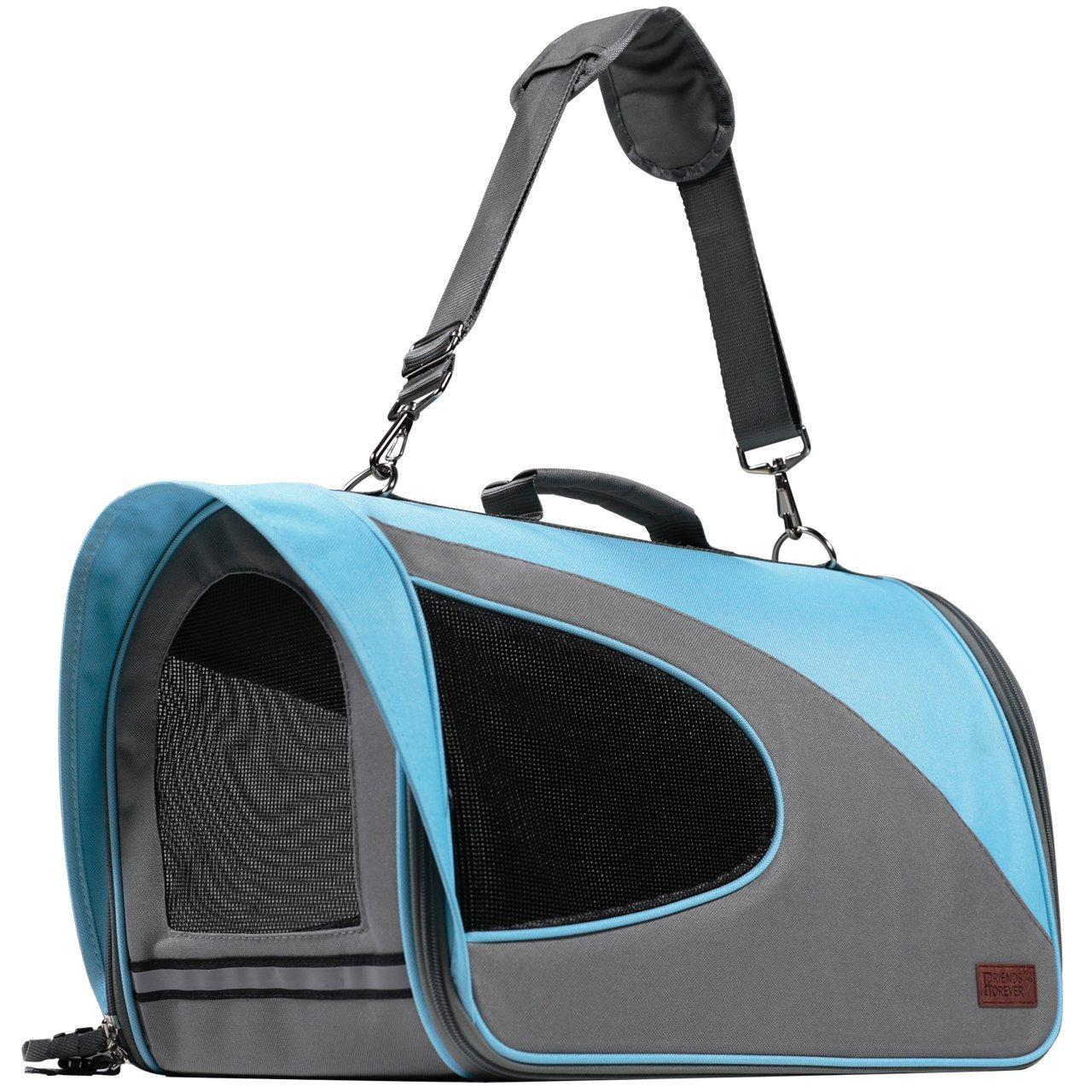 Airline Approved Pet Carrier for Cats, Small Dogs - Soft Cat Carriers Dog Travel Bag for Small Medium Large Cat Friends Forever PET66-0009