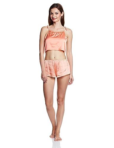 ec8f860297ff3e Miss Chase Women s Satin Nightwear Shorts Set Nighties   Nightdresses from amazon  in Nightdress