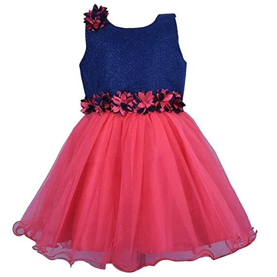 6fb35d95037e Wish Karo Baby Girls Net Frock Dress - (fr1006sg): Amazon.in: Clothing &  Accessories