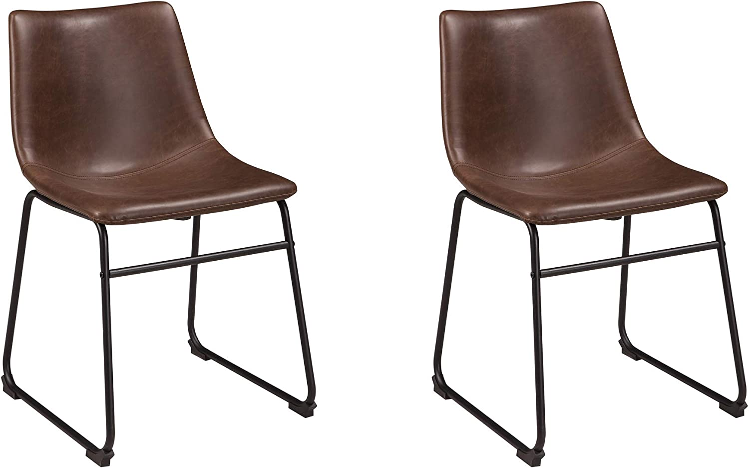 Amazon Com Signature Design By Ashley Centiar Dining Chair Set Of 2 Black And Brown Chairs