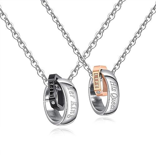 Amazon.com: INSEA - Collares de acero inoxidable para pareja ...