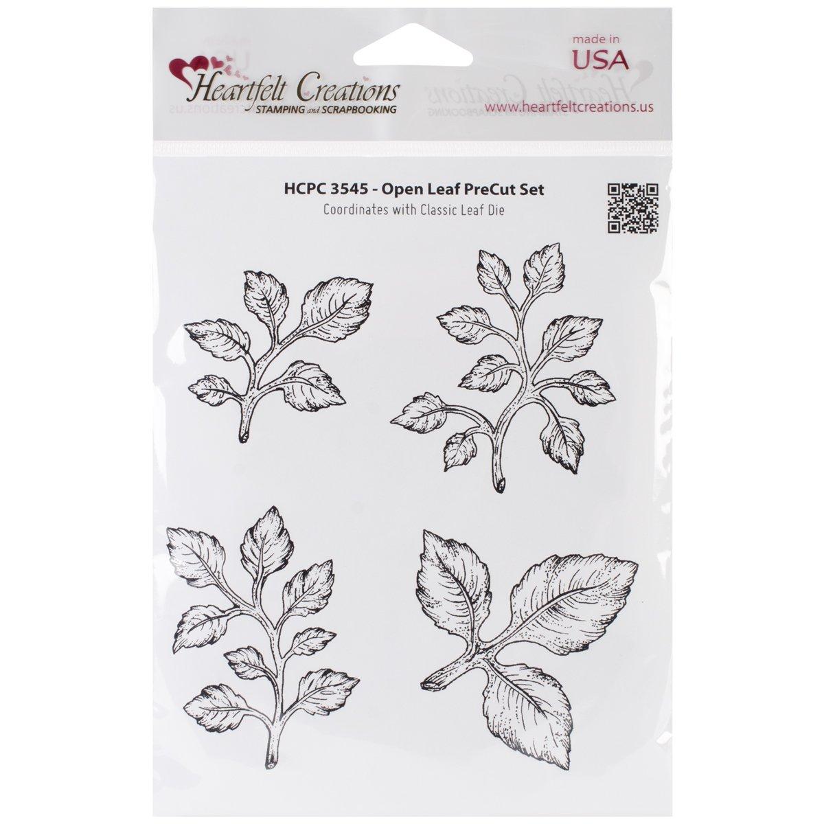 Heartfelt Creations Cling Rubber Stamp Set 5''X6.5''-Open Leaf