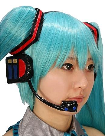 Hatsune Miku peluca con auriculares 1 adornos cuadrados pelo ...
