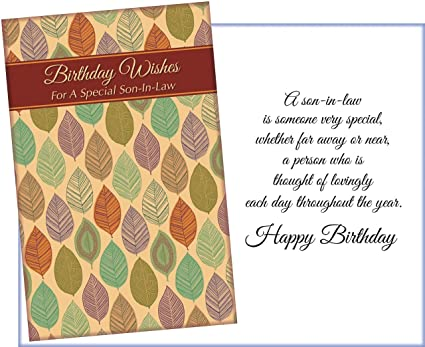 Amazon Prime Greetings Happy Birthday Greeting Card For Son In Law Wishes A Special Office Products