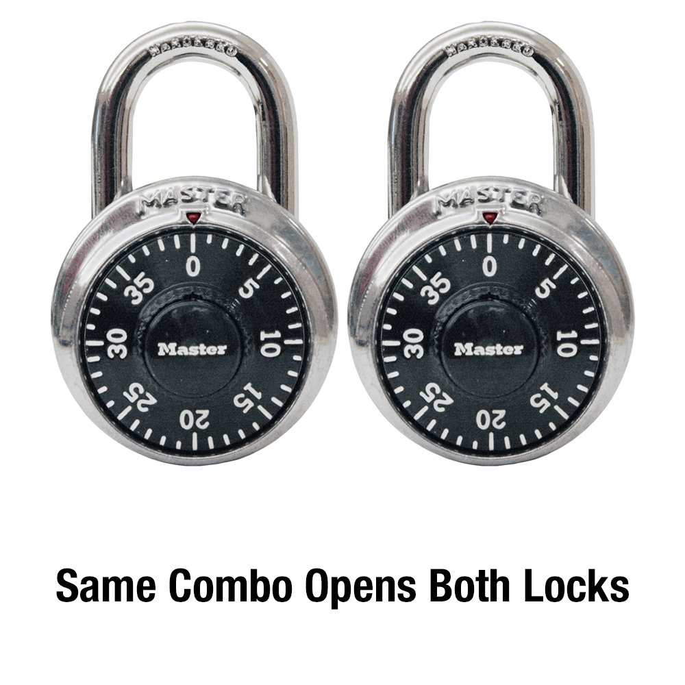 Master Lock 1500T Dial Combination Padlock, 2 Pack, Black - Combination  Padlocks - Amazon.com
