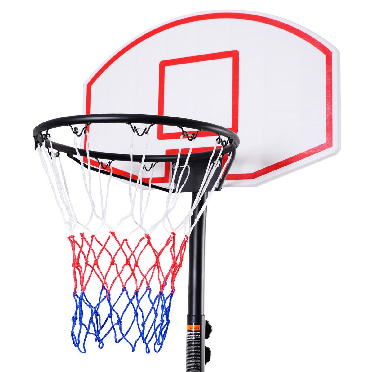 8e7a0a35423ac0 Amazon.com   Wheels Portable Adjustable Height Basketball Hoop Stand  Backboard Whole System   Sports   Outdoors