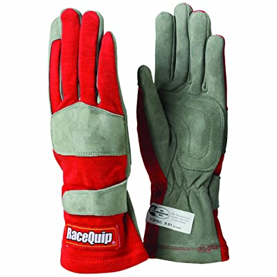 RaceQuip 351012 351 Series Small Red SFI 3.3/1 One Layer Racing Gloves: Automotive