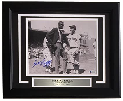 Bill Russell Signed Framed 8x10 Boston Celtics Photo BAS E63653 at ... c05a7c210