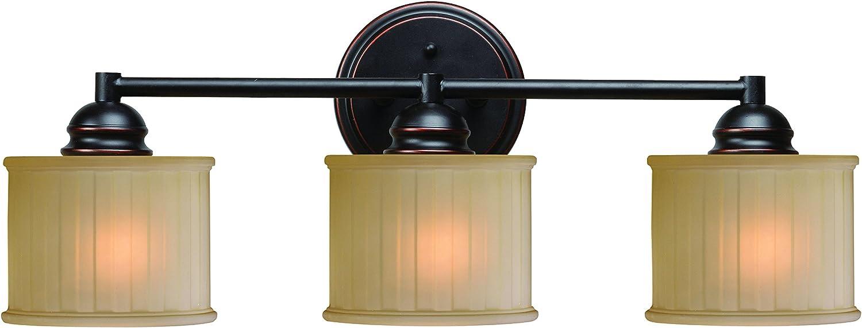 Kenroy Home Barney 3 Light Vanity, Oil Rubbed Bronze