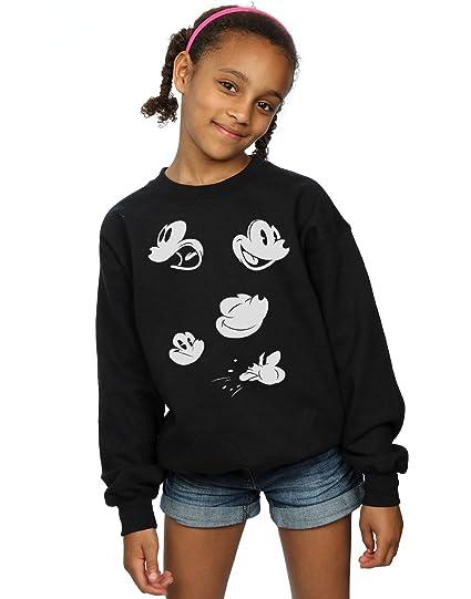 6c856e9c72 Amazon.com: Disney Girls Mickey Mouse Faces Sweatshirt: Clothing