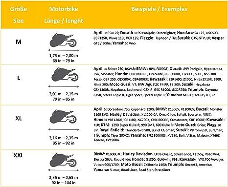 B/âche de Protection pour Moto d/ét/é et Hiver en 600D Oxford pour lint/érieur et lext/érieur Tr/ès Stable et ind/échirable de M /à XXL en Tissu Non-tiss/é Ultra Doux pour lint/érieur