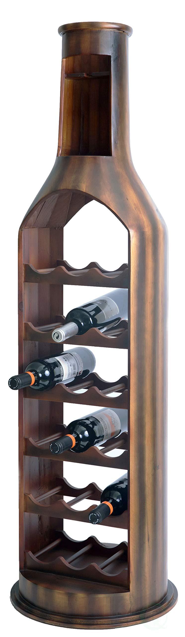 Vintiquewise QI003343LNEW 10 Bottle Decorative Holder Wooden Violin Shaped Wine Rack, Brown by Vintiquewise