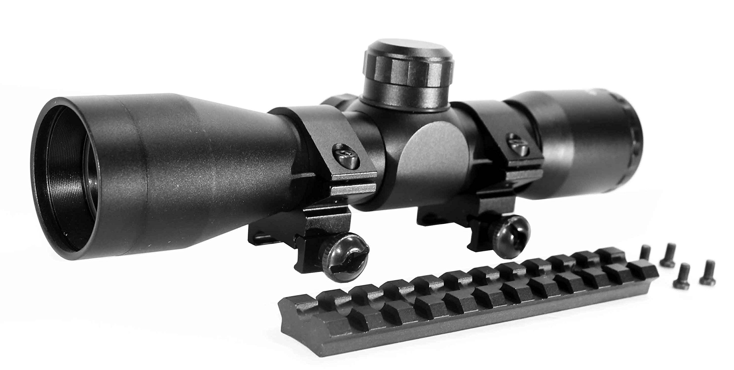 Trinity Sniper 4x32 Sight for Ruger 10/22 Picatinny Weaver Base Mount Adapter Aluminum Black Tactical Optics Hunting Accessory mildot Reticle Target Range Gear Single Rail. by Trinity