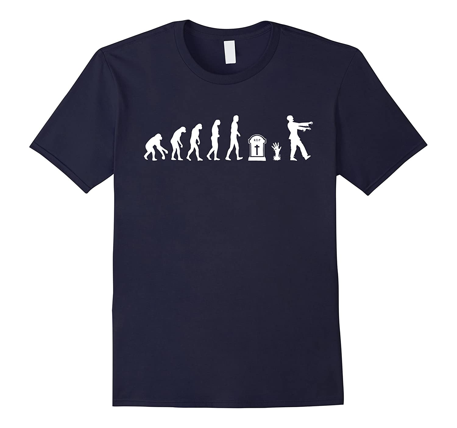 Zombie Evolution Shirt - Funny Zombie Halloween Gift-CL