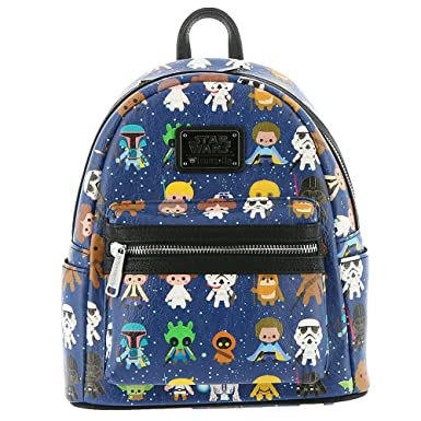 Image Unavailable. Image not available for. Color  Loungefly Star Wars Baby  Character Print Mini Faux Leather Backpack STBK0043 30b6d5358b9e5