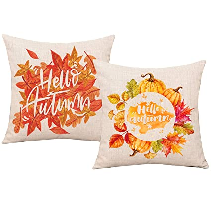 Amazon Whaline Hello Autumn Fall Decoration Pillow Cases 40 Adorable Decorating Pillow Cases