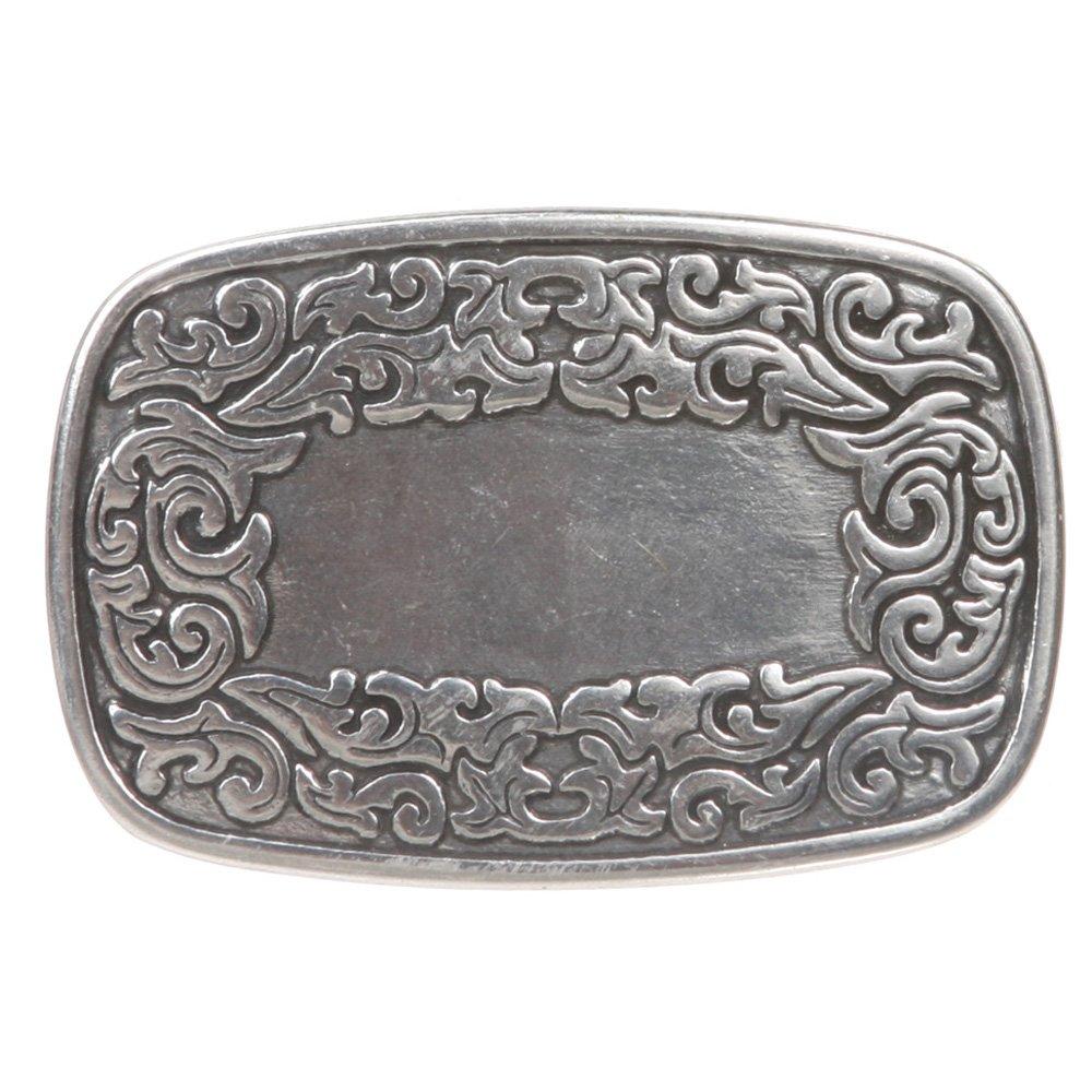 beltiscool Women's Flower Engraving Oval Silver Belt Buckle 643279:A03W