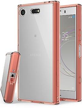 Ringke Funda Sony Xperia XZ1 Compact [Fusion] Transparente al Dorso del PC y Frente al TPU Protectiva con Armadura Mejorada para XZ1 Compact - Rosa ...