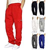 Sweatpants for Men Pants Casual Rope Loosening Heavyweight Fit Cargo for Men Loose Sports Trousers Pants with Pockets