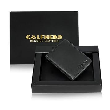 cbbd5503264ef Calfnero Black Card Case (12120-Black)  Amazon.in  Bags