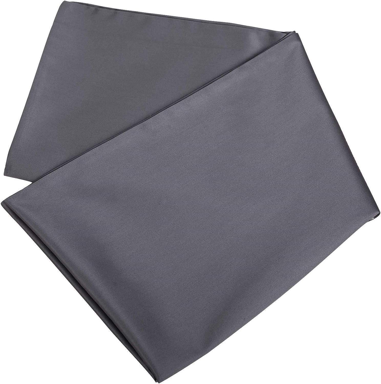 Oubonun Premium Body Pillow Cover (100 Percent Cotton, 800 Thread Count) - XL High Thread Count Body Pillowcase - Luxury 21 x 54 Body Pillow Case - Grey Long Body Pillow Cover - Long Pillow Case