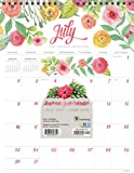2018 Academic Year Flowers Monthly Wall Calendar