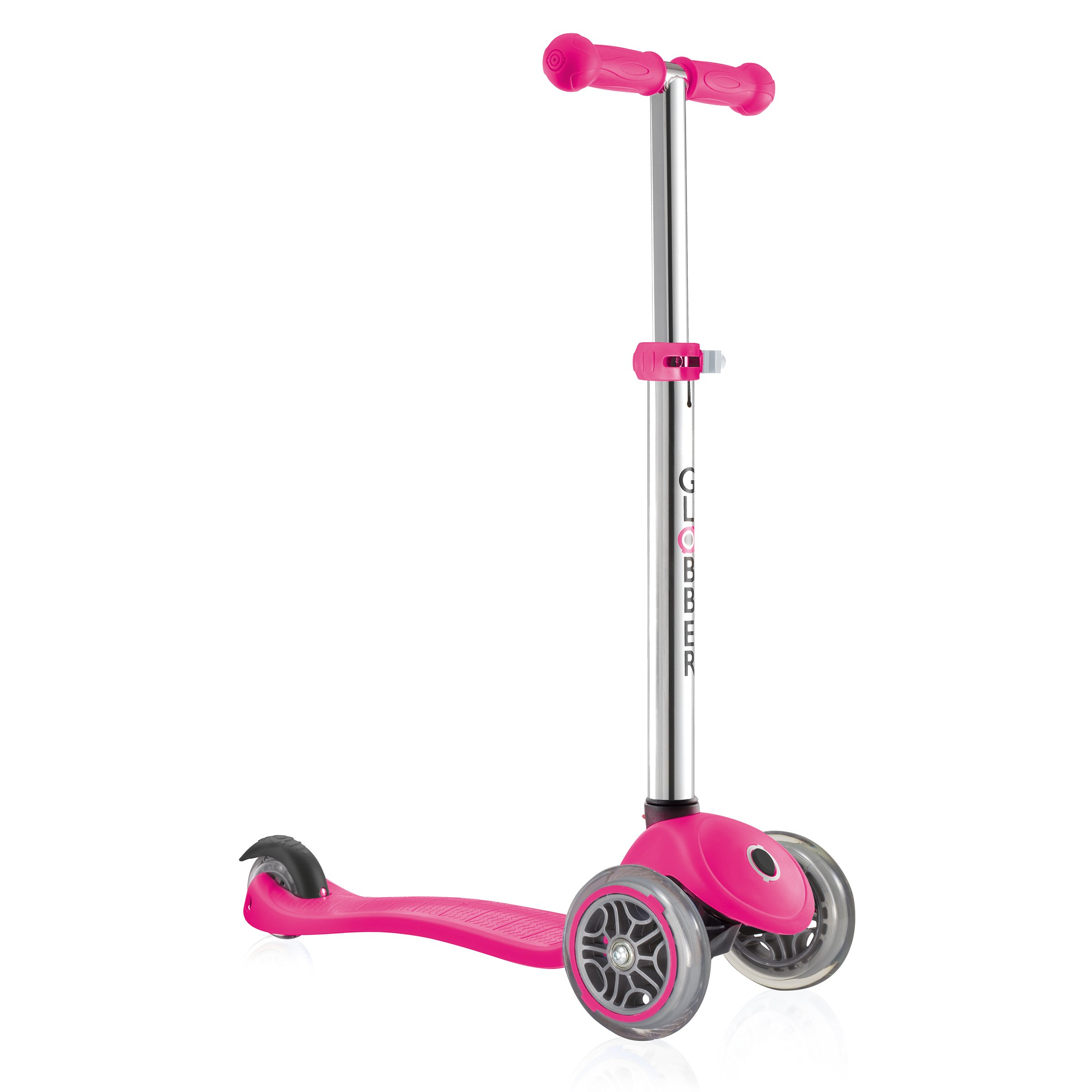 Globber Primo 3 Wheel Adjustable Height Scooter (Pink)