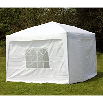 Palm Springs 10 x 10 WHITE EZ Pop Up Canopy w/Walls & Amazon.com: Palm Springs 10 x 10 WHITE EZ Pop Up Canopy w/Walls ...