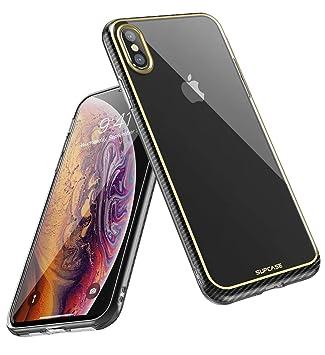 SupCase Funda iPhone XS MAX, iPhone XS MAX Funda, Carcasa Suave Delgada TPU Transparente [Unicorn Metro Serie], Case para Apple iPhone XS MAX (Dorado)