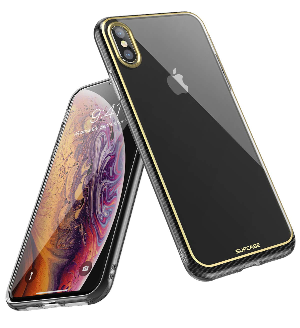 iPhone Xs Case, iPhone X Case, SUPCASE Unicorn Beetle Metro Series Slim Soft TPU Clear Cover for Apple iPhone X 2017/ iPhone Xs 2018 (Gold)