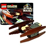 Lego Year 1999 Star Wars Series Vehicle Set #7111 - DROID FIGHTER (Total Pieces: 62)