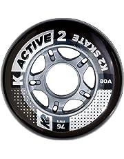 K2 - Juego de Ruedas (Paquete de 4 Unidades), 76 mm, Active