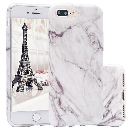 Funda iPhone 7 Plus,ZXK CO Carcasa del Gel TPU Silicona para iPhone 7 Plus 5.5 Pulgadas Diseño Mármol de Amortiguación y Anti-Arañazos Espalda ...