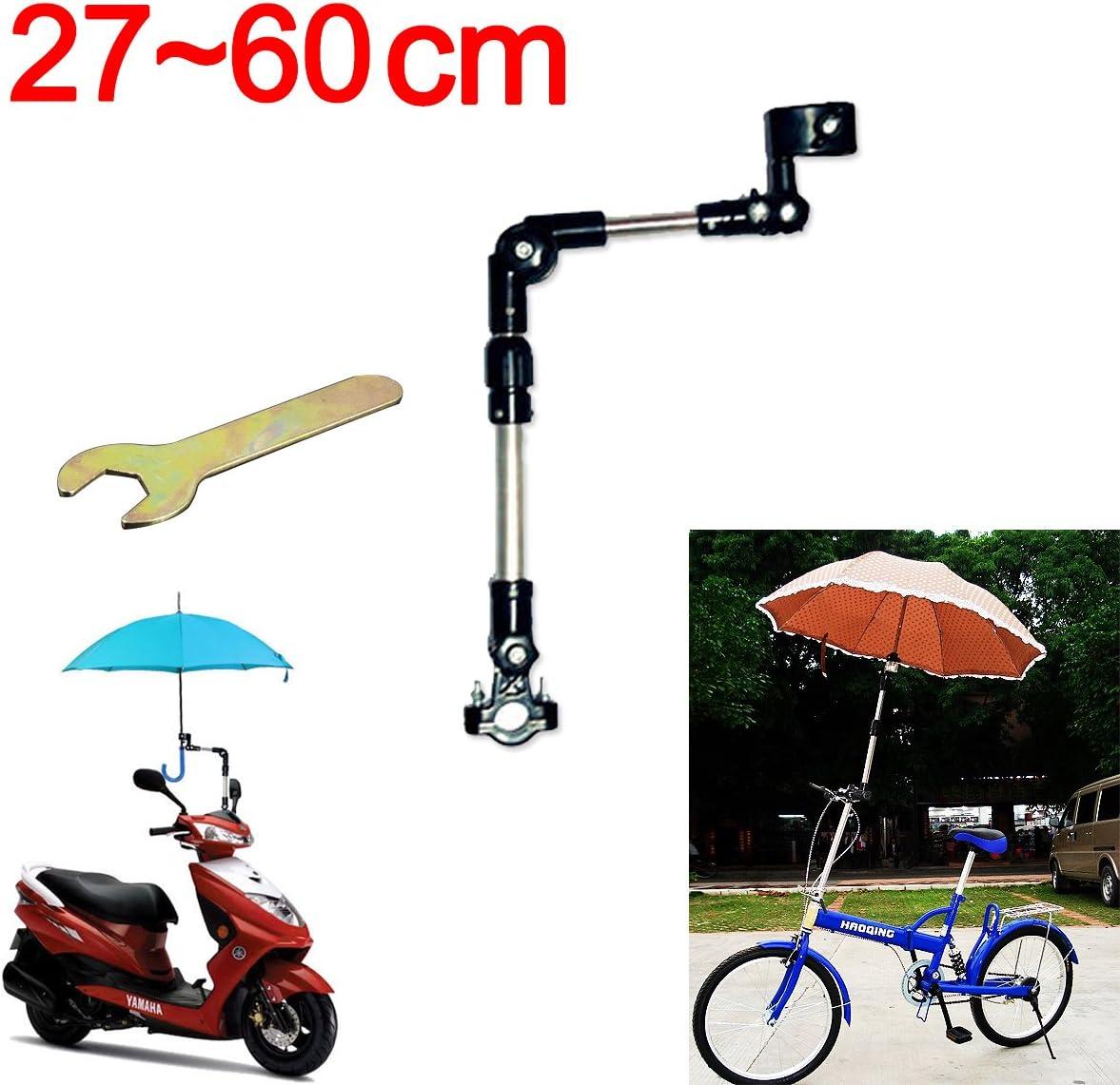 Soporte De Conector Multi-ángulo Para Paraguas Sostenedor Para Paraguas De Bicicleta Para Bicicleta / Motociclismo Silla de Ruedas / Cochecito con llave fácil BLACK 60CM