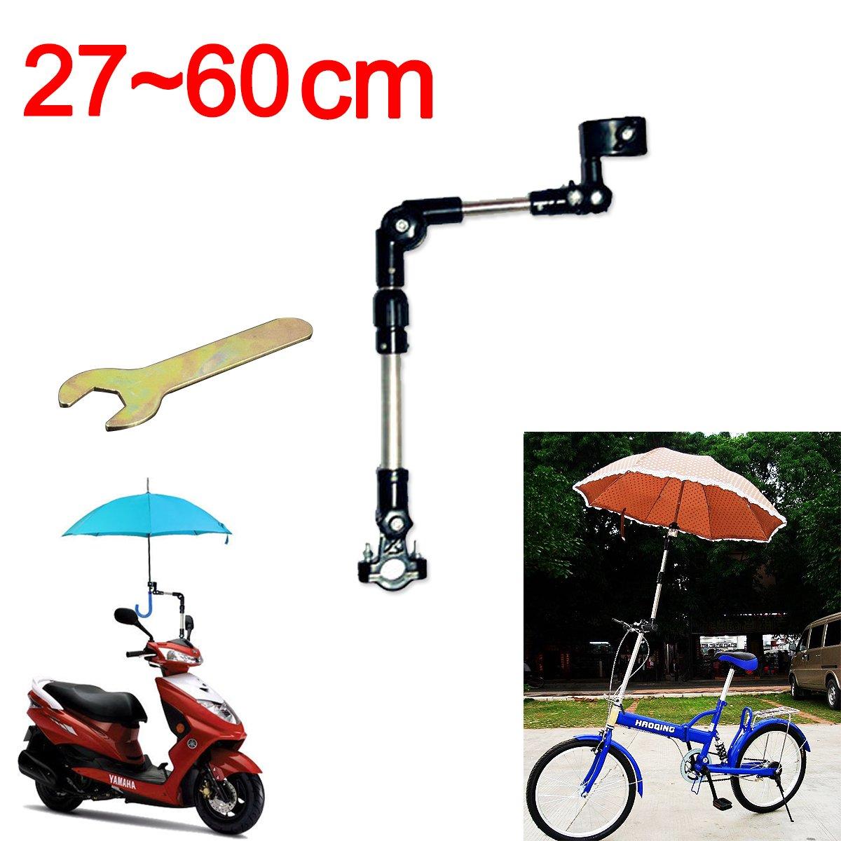 Soporte De Conector Multi-ángulo Para Paraguas Sostenedor Para Paraguas De Bicicleta Para Bicicleta / Motociclismo Silla de Ruedas / Cochecito con llave fácil BLACK 60CM CMYKZONE