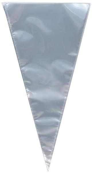 Amazon.com: Bolsas de celofán transparente con forma de cono ...