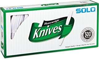 product image for SOLO Cup Company - Heavyweight Plastic Cutlery, Knives, White, 7 in, 500/Carton 827271 (DMi CT