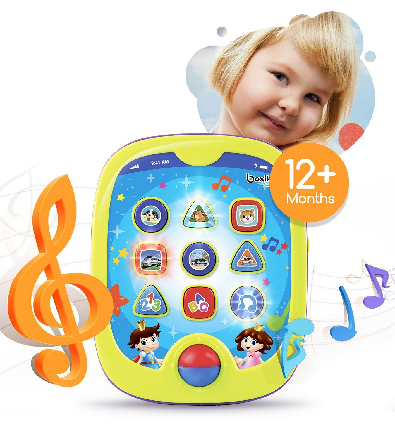 """Smart Pad for Babies and Children Learning by Boxiki Kids. Educational Toy for Infants with Kids' Learning Games. Learn Numbers, ABC Learning, """"Can You Find?"""" Game, Music, Light Up Whack-a-Mole Game Can You Find? Game"""