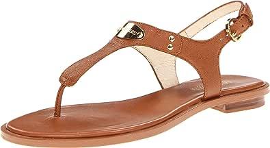 MICHAEL Michael Kors Women's MK Plate Thong Luggage Sandal