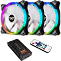 darkFlash CS140 3-in-1 140mm Addressable RGB LED Case Fan Kit