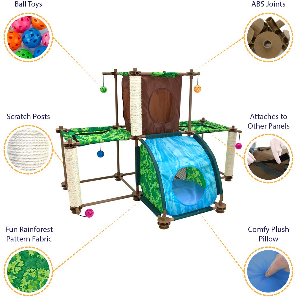 Kitty City Rainforest Tropical Getaway Cat Furniture, Cat Toy & Cat Bed by Kitty City (Image #2)