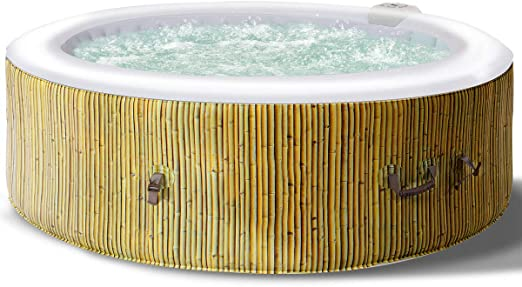 COSTWAY Jacuzzi SPA Hinchable de Redondo Bañera Inflable con ...