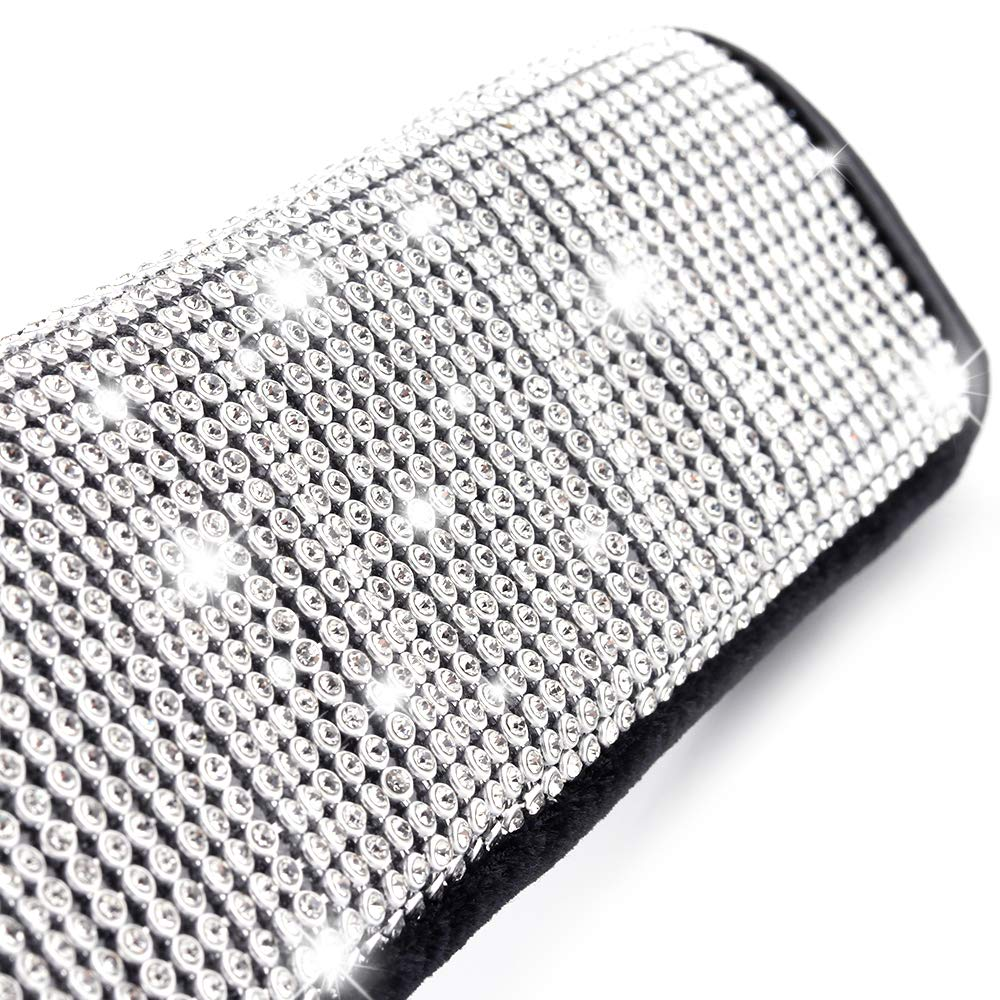 ZATAYE Car Seatbelt Covers 2 Pack Bling Seat Belt Shoulder Pads Diamond Rhinestone Crystals Seatbelt Shoulder Cushion Car Decor Accessories for Women,Universal Fit