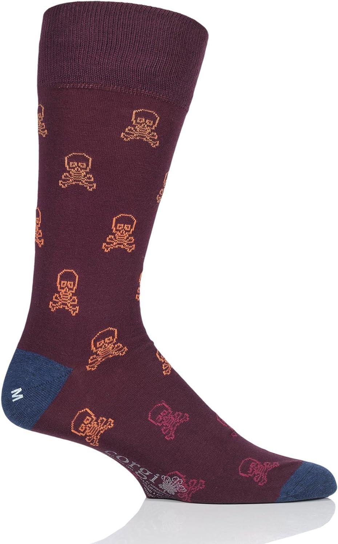 Corgi Mens 80-45-5046 Skull and Crossbones Lightweight Cotton Socks Pack of 1