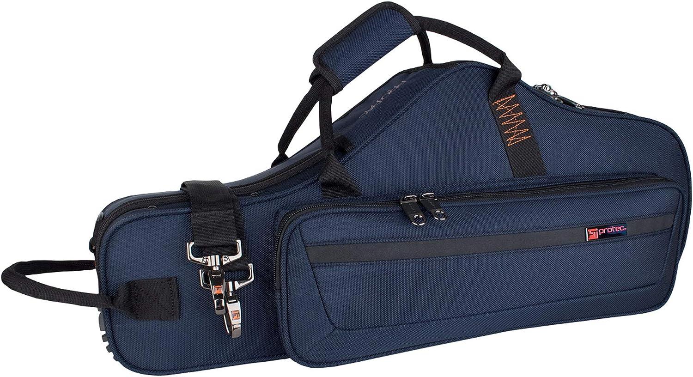 Protec Alto Saxophone Contoured PRO PAC Case with Flute Pocket Model PB304CT Black