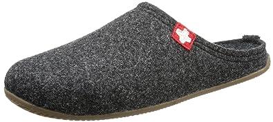 da124520c6154d Living Kitzbühel Damen Pant. Schweizer Kreuz  Fußbett Pantoffeln Grau (600  anthra) 36 EU