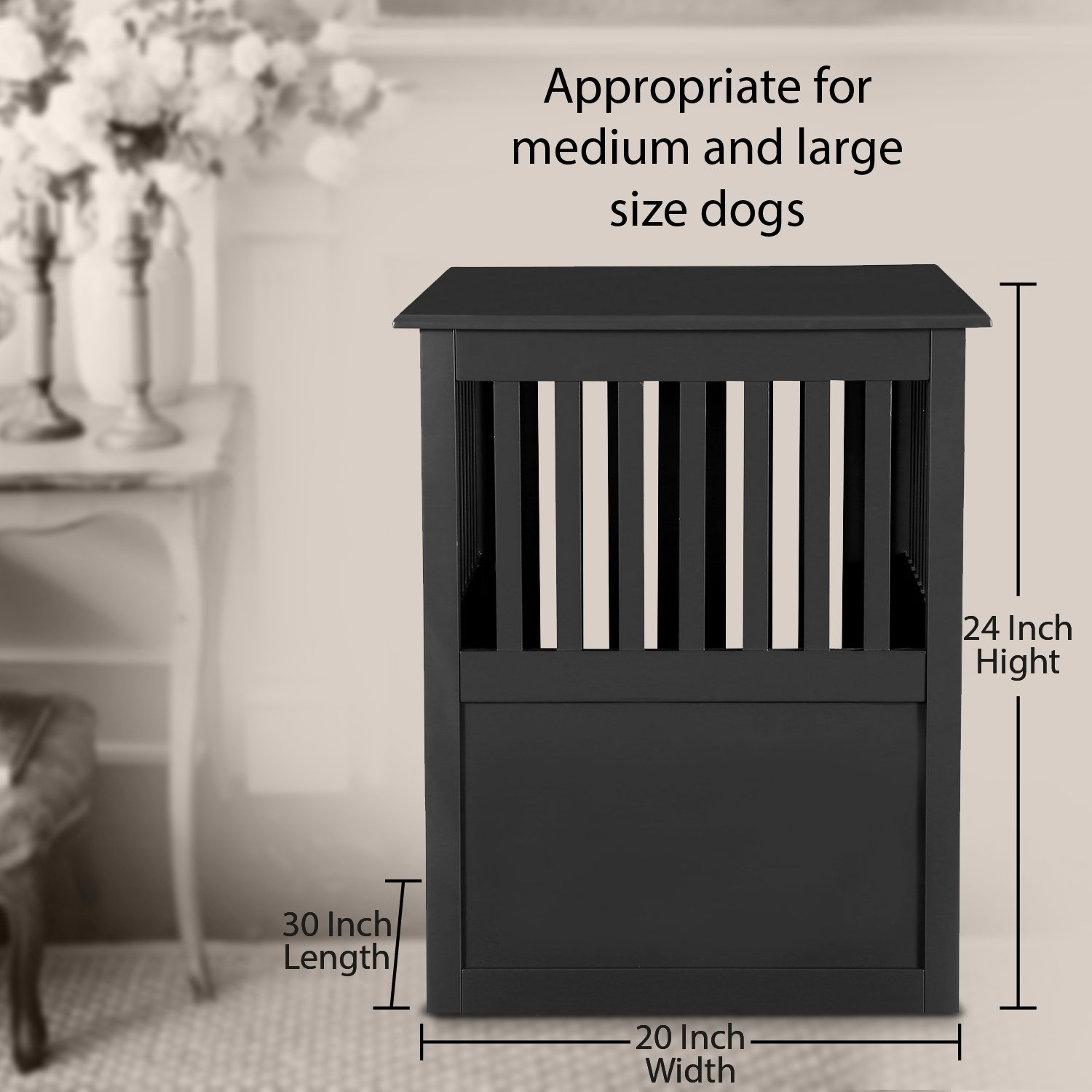 Pet Hup Hup Crate Table For Dog's Cat's Comfort Chest End Table (Brown)