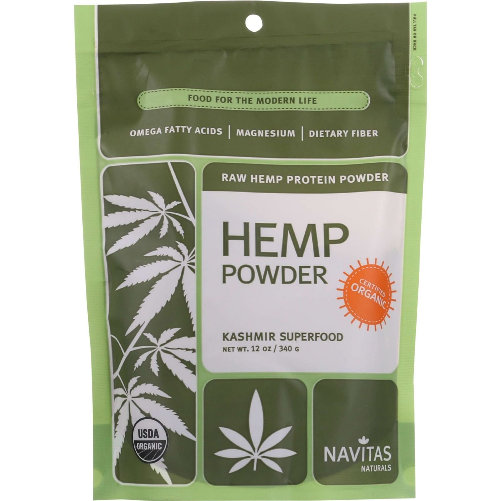Navitas Naturals Organic Raw Hemp Powder, 12 Ounce - 6 per case.