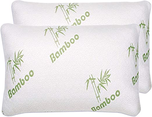 Bamboo Memory Foam Pillow Orthopedic Comfortable Hypoallergenic Twin Queen King